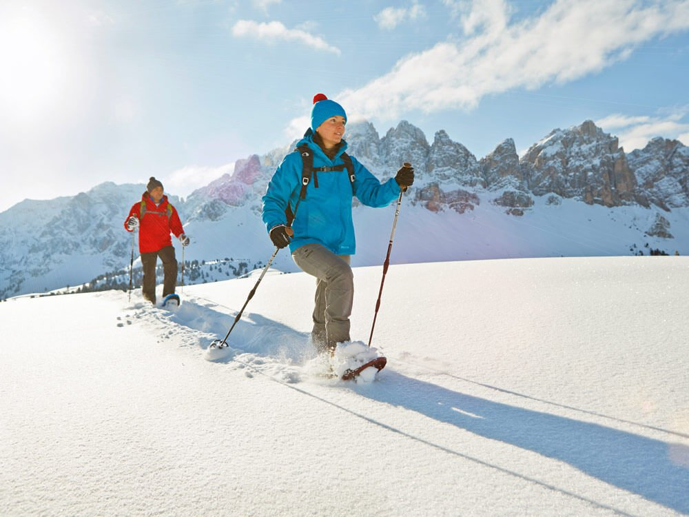 Winter excursions & snow shoe walks in the Dolomites